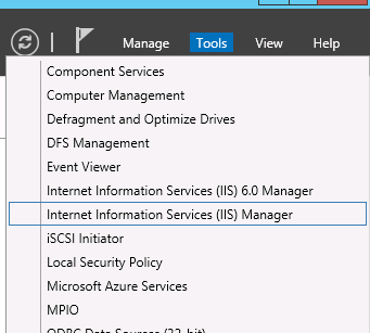 Change IIS default port - IIS Manager console