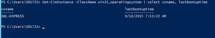 Uptime of the server - Last Boot Uptime PS 3